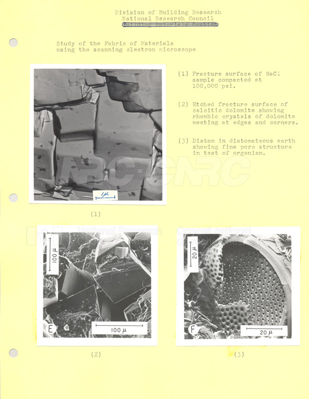 Study of the Scanning of Materials using the Electron Microscope c.1968