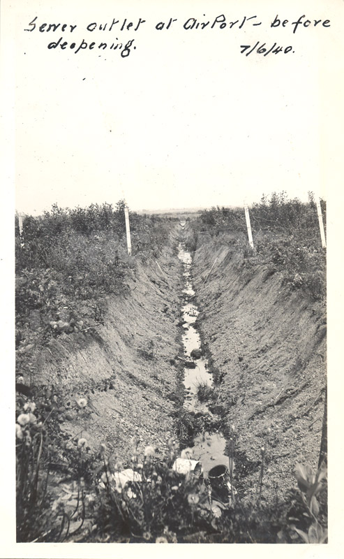 Album 12 New Annex 2 Sewer Outlet at Airport- Before Deepening June 7 1940