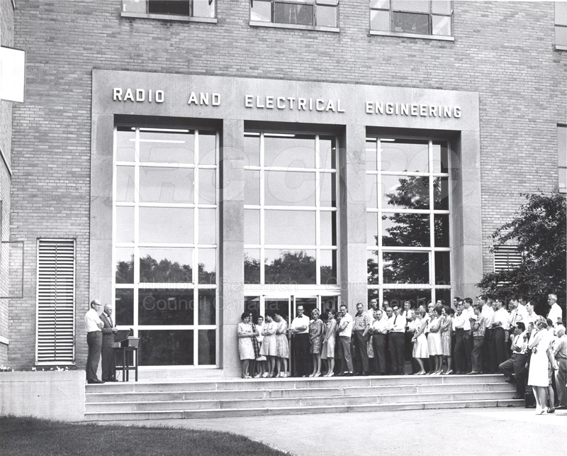 B.G. Ballard- Retirement Ceremony at M-50- Replacing Brick with a Wall Plaque June 1967 003