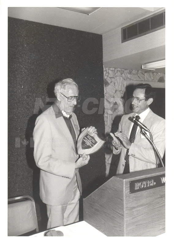 H. Fowler- Award from Canadian Air Cushion Techology Society 1984