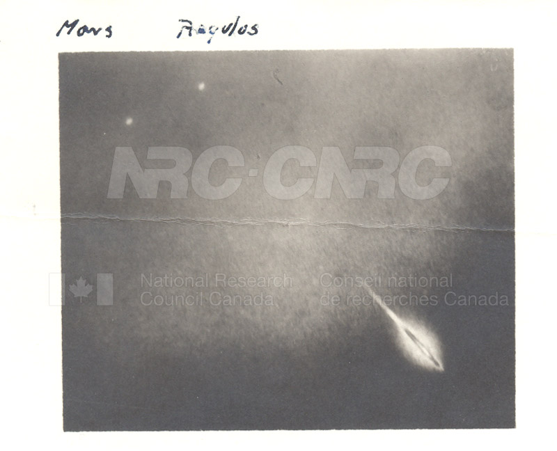 Lionid- Mars- Photographed at Frank P. Brackett Observatory, Pamona College, Claremont California Nov. 17 1932