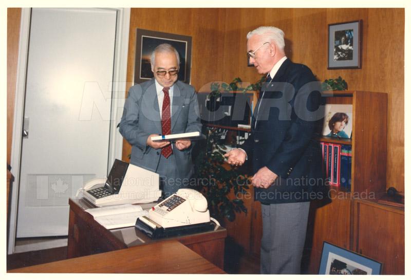 Visit of H.E.K. Kikuchi, Ambassador of Japan to NRC Feb. 27 '85 004