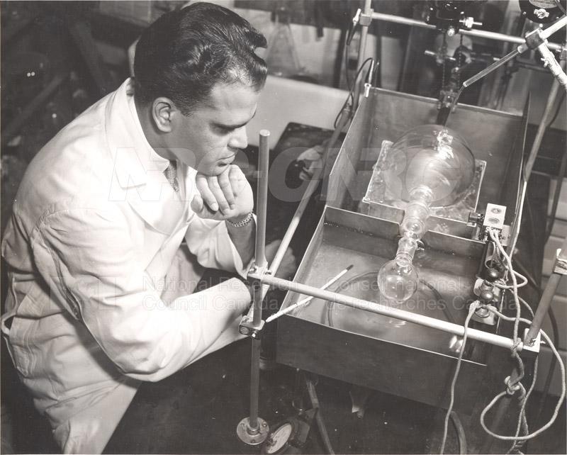 Fermentations and Enzymology- Dr. K.K. Reddi- with Vacuum Apparatus c.1954