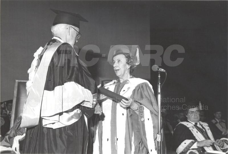 Dr. L. Kerwin- Honorary Doctorate University of Ottawa 1981 004