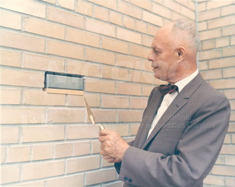 B.G. Ballard- Retirement Ceremony at M-50- Replacing Brick with a Wall Plaque June 1967 005