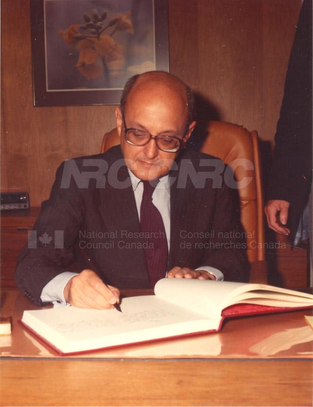 Visit of Ambassador of Brazil 1983 004