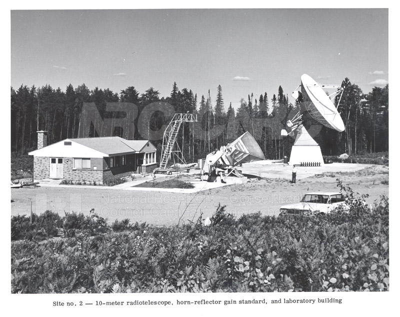 Algonquin Observatory- Site No.2 10 Metre Radiotelescope, Horn Reflector Gain Standard and Laboratory c.1964