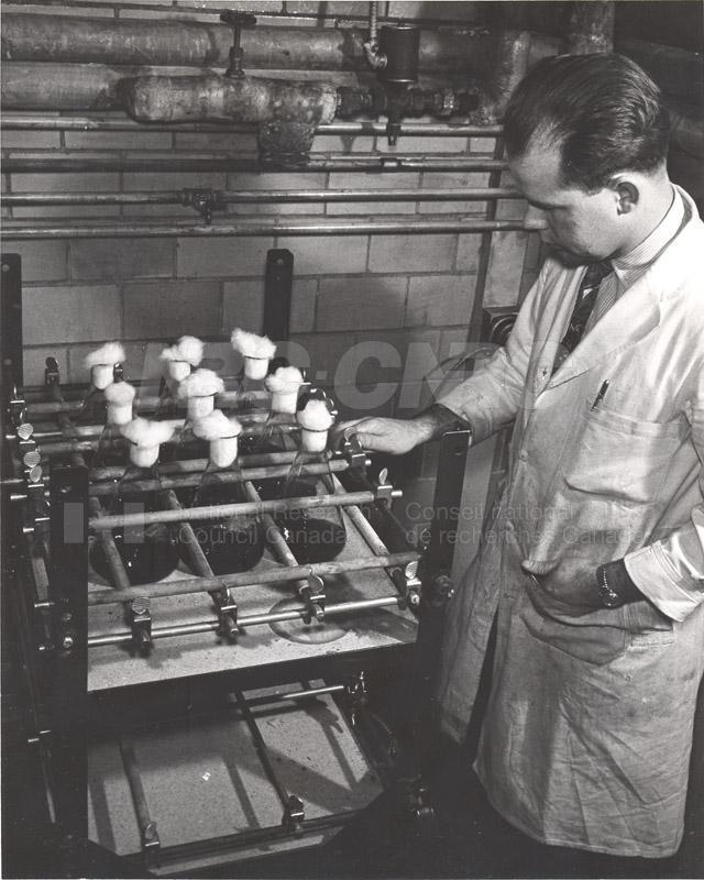 Enzymology and Fermentations- S.M. Martin w. Fermentation Shaker c.1953