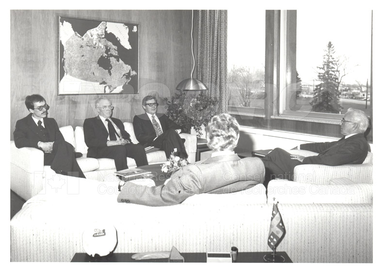 Visit of Mr. A. Williams and Dr. L. Bovey, U.K. Dept. of Industry 1982 001
