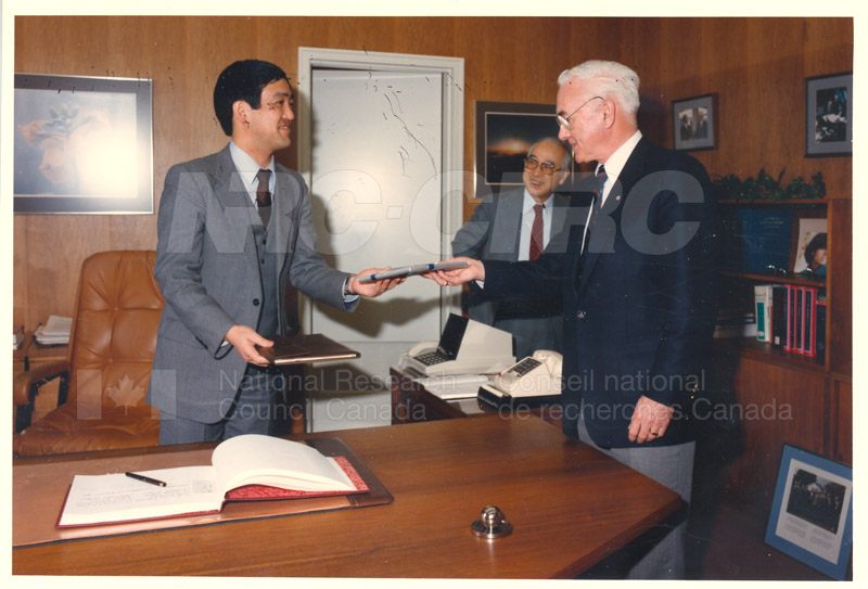 Visit of H.E.K. Kikuchi, Ambassador of Japan to NRC Feb. 27 '85 002