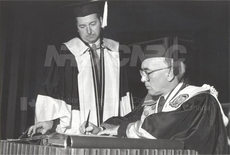 Dr. L. Kerwin- Honorary Doctorate University of Ottawa 1981 001