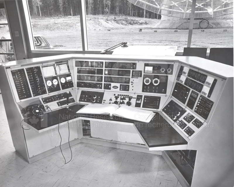 Algonquin Observatory- Control Console for the 150 ft. Radio Telescope Oct. 14 1966 001