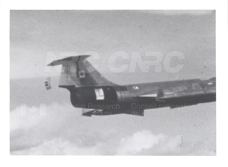 Flight Research Section- Test Deployment of Supersonic Crash Position Indicator from CF-104 Star Fighter 002