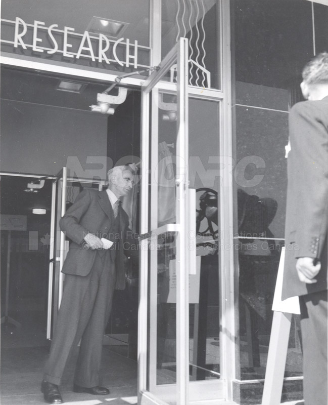 F.M. Lea at DBR Opening of Fire Research Oct. 1958 004