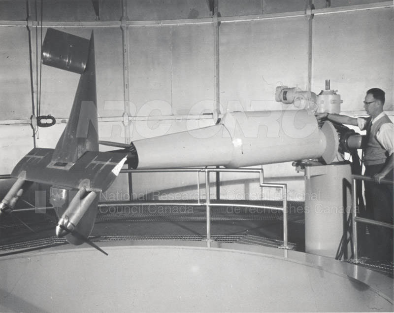Aerodynamics Section- Vertical Spinning Wind Tunnel c.1950