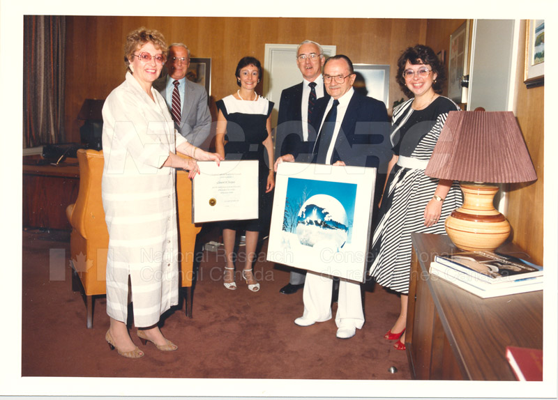 40 Year Service Award to M. Clement St. Jacques 19 July 1985 003