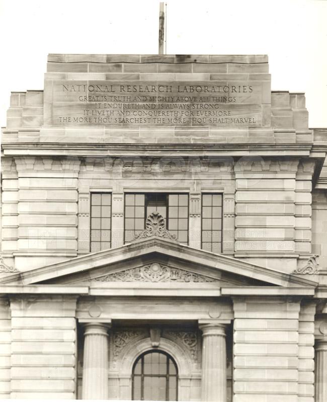 100 Sussex Drive- Inscription Over Entrance KK-329