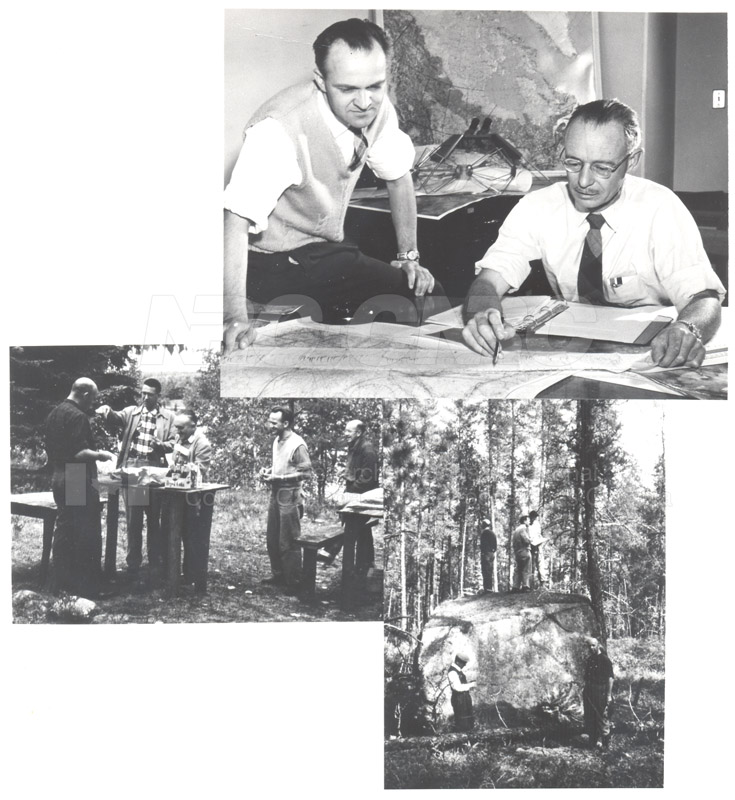 Algonquin Observatory Site- Radio Astronomy Site- Survey Committee at Lake Traverse Sept. 26 1958