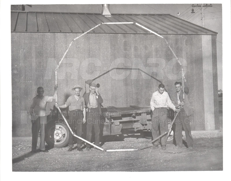 The Dodecagon Angle Iron Frame- Jack Hodges, Tony Nilson, Chuck Haglund , Harry Williams July 1952