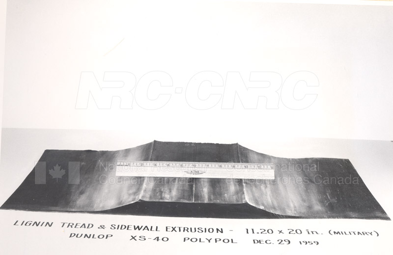 Rubber Section- Lignin Tread-Sidewall Jan. 1960 002