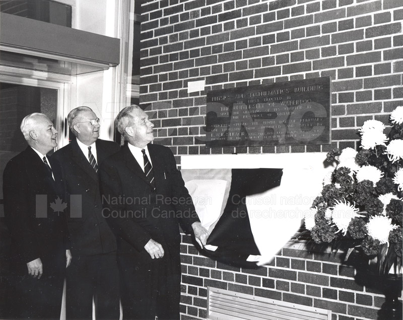 E.W.R. Steacie- Opening of Physics and Mathematics Building University of Waterloo Feb. 10 1960 001