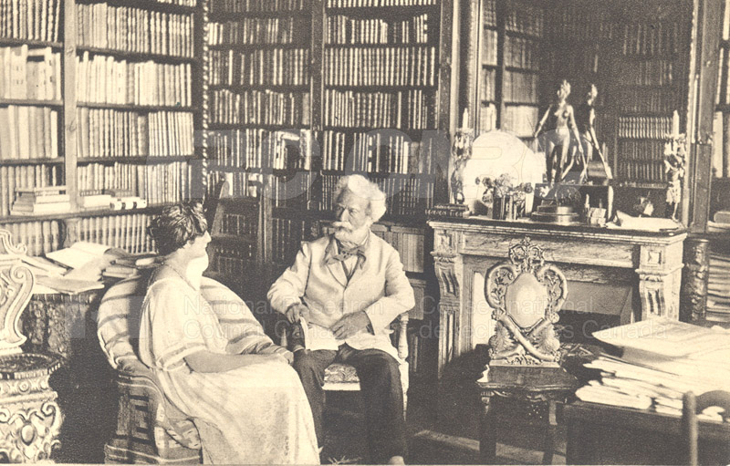Mr. and Mrs. Camille Flammarion (post card)