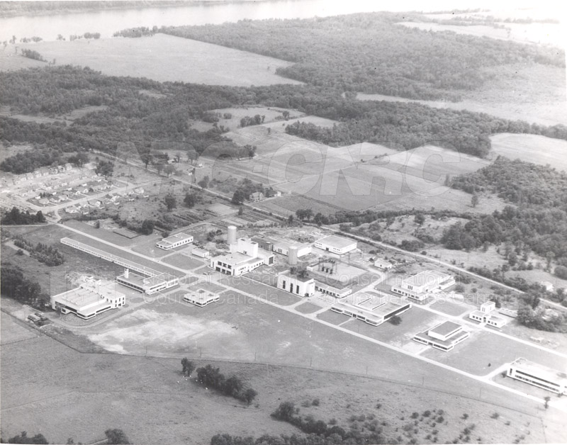Aerial Views of Montreal Rd. Labs- Central Stores, Fire Research and Bldg. Research 1958,1959