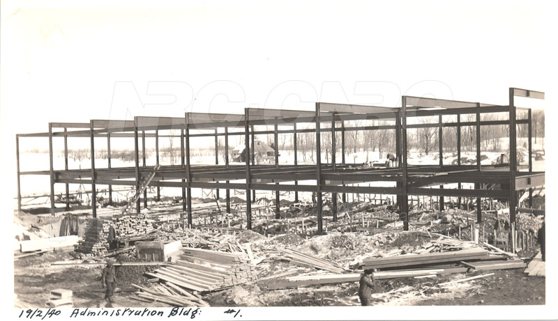Administration and Wind Tunnels Construction 1940 026