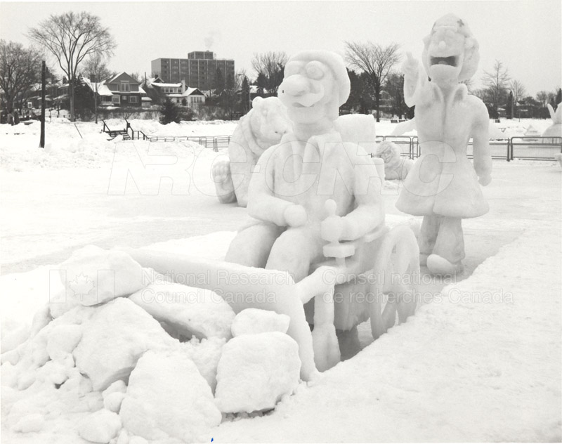 NRC's Winterlude Snow Sculpture- 1st Prize 1985 003