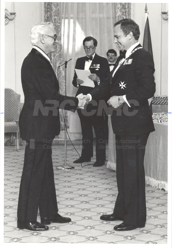 Dr. L. Kerwin- Presentation of Order of Canada 1981