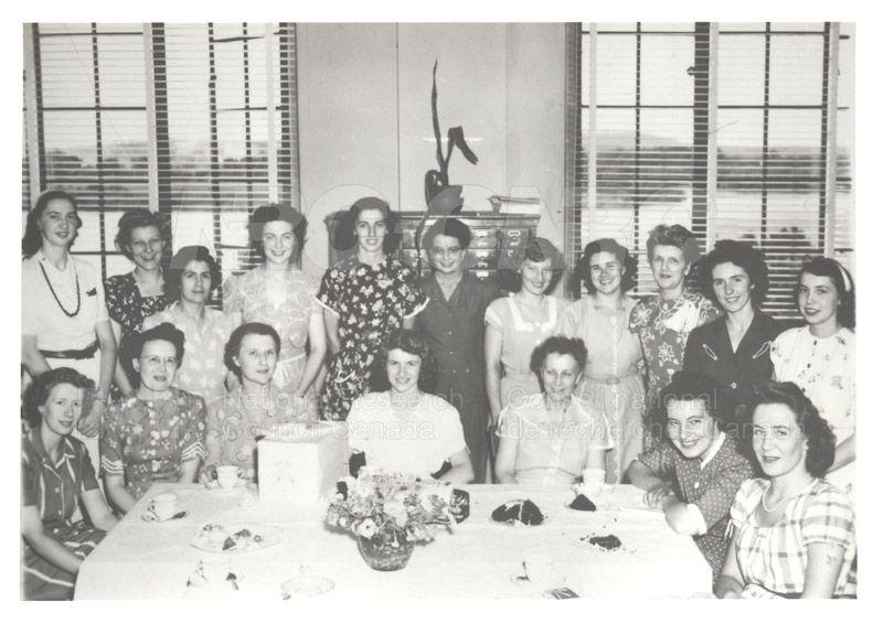 NRC Library Tea for Merle Shaver July 31, 1947