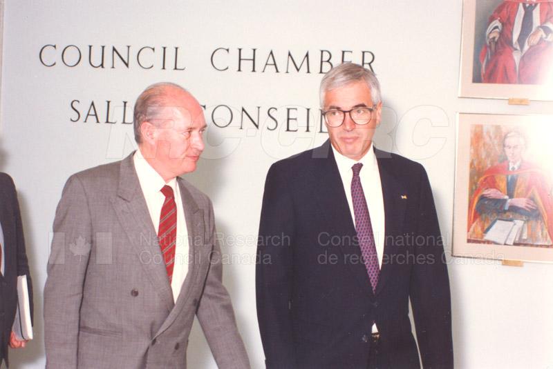 Cyprus Pres. visits NRC, May 1 1990 003
