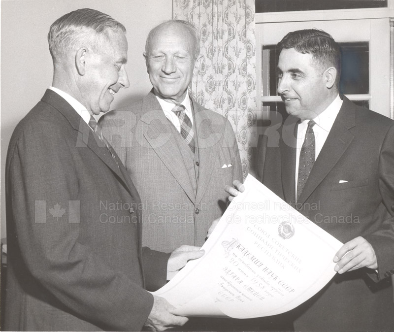 USSR Academy of Science E.W.R. Steacie Receives Honorary Membership Oct.6 1959