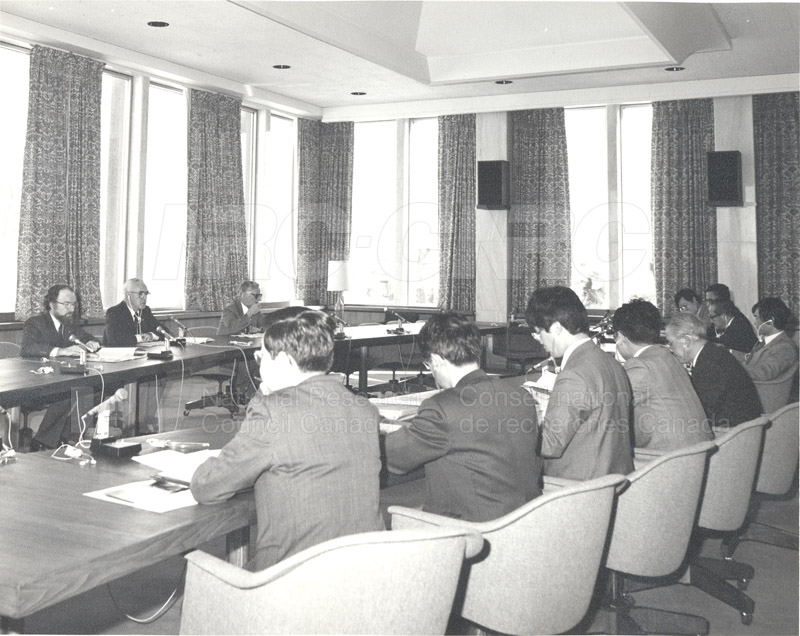 Visit of a Survey Mission from the Council of Science and Tech. Japan 1983 003