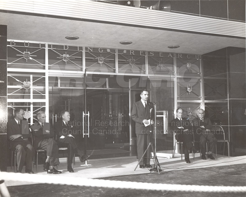 Opening of Building Research Oct. 23 1953 016