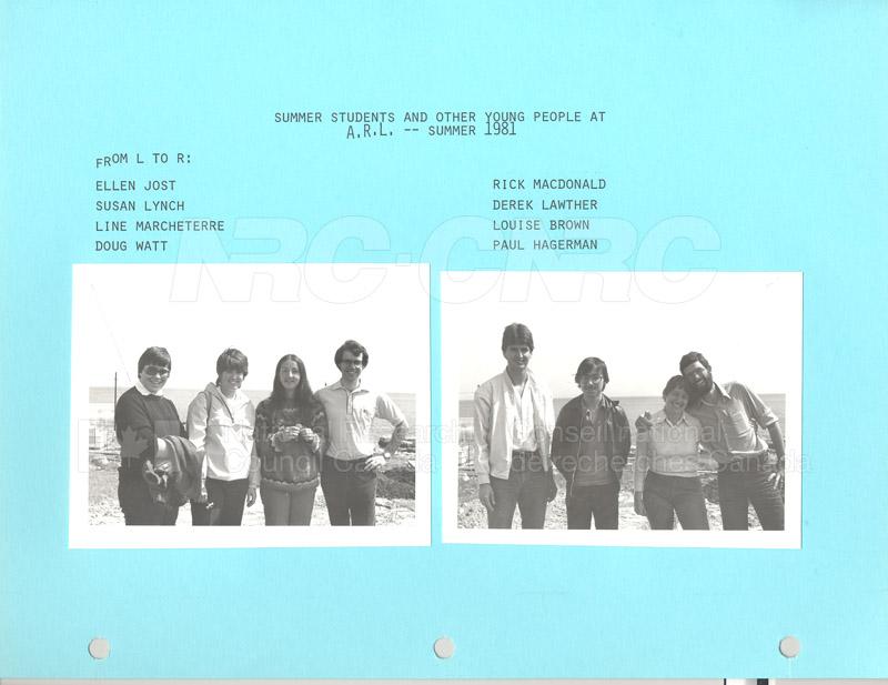 Summer Students 1981 002