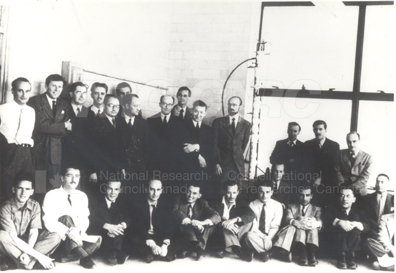 Nuclear Research Laboratory Staff Portrait Montreal c.1943