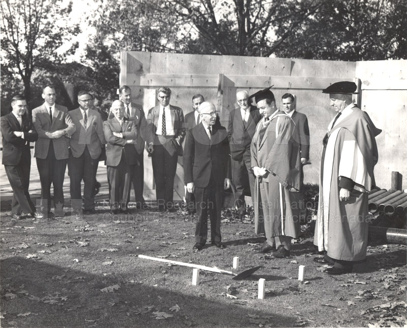 Dr. L. Marion Turns Sod at University of B.C. 1961