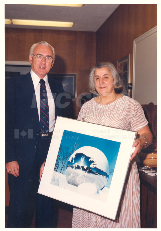 Presentation of 40 Year Service Award to Mrs. Helen Cuccaro 4 Sept. 1985 001