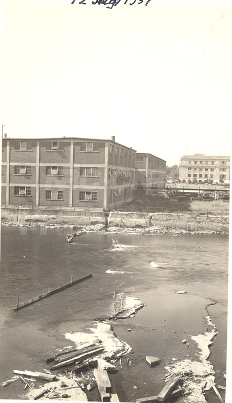 John St. Annex- Rideau Falls 100 Sussex in Background July 12, 1937