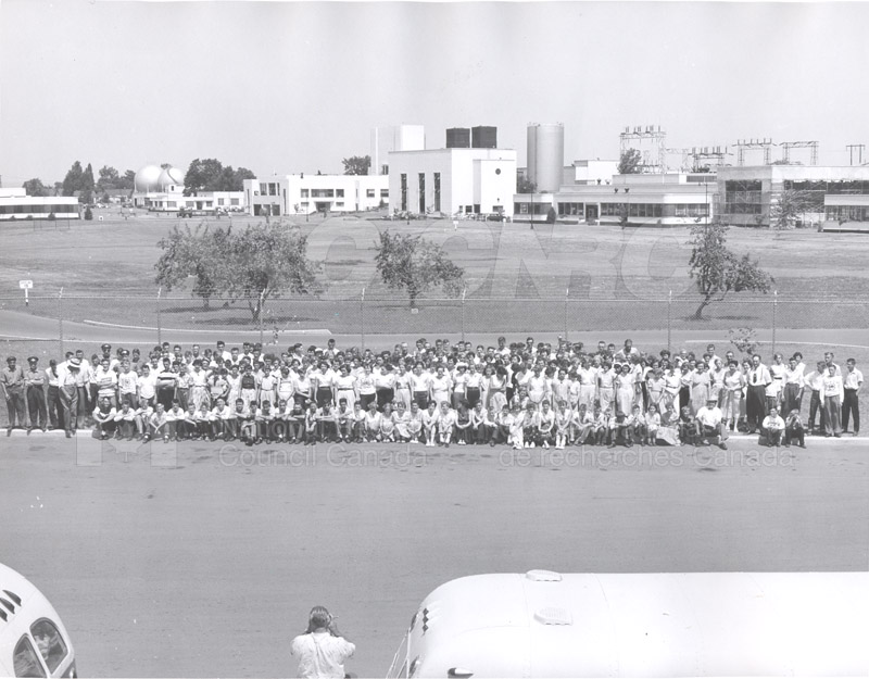 Visit of 4-H Clubs of Renfrew, ON 26 July 1955 001