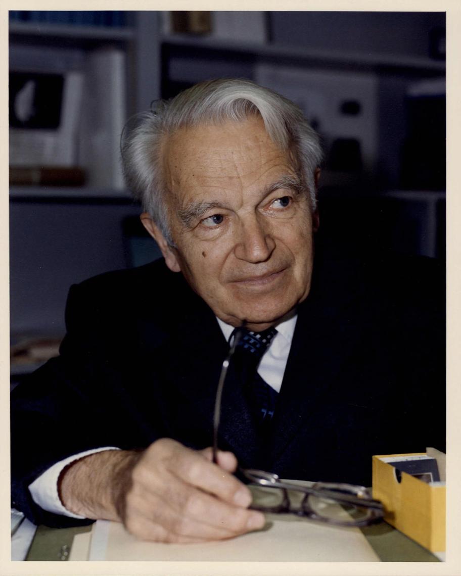 Dr. Gerhard Herzberg, November 1984