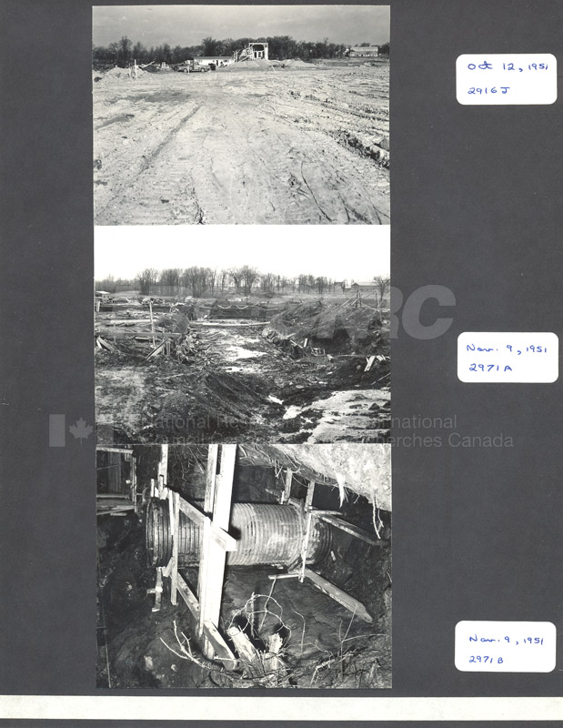 Construction of M-50 Oct. 12 1951 AND Nov. 9 1951 #2916, 2971 002