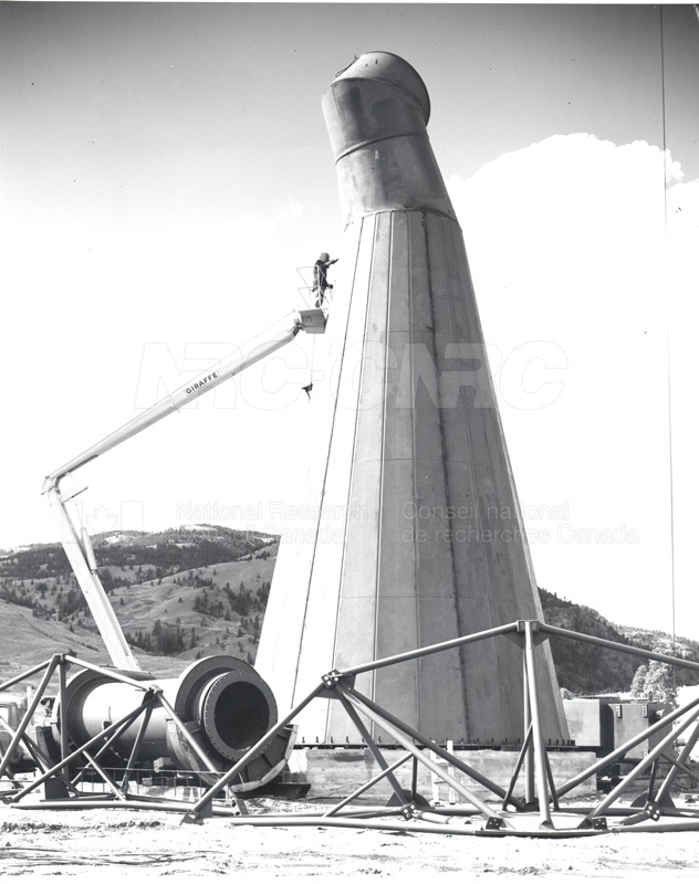 Dominion Observatory- 25.6 Meter Telescope Under Construction c. 1965 001