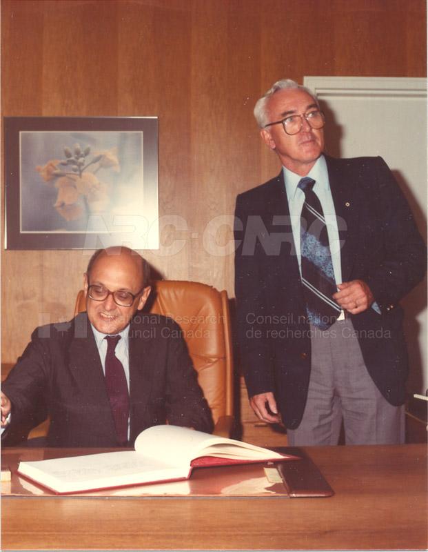 Visit of Ambassador of Brazil 1983 001