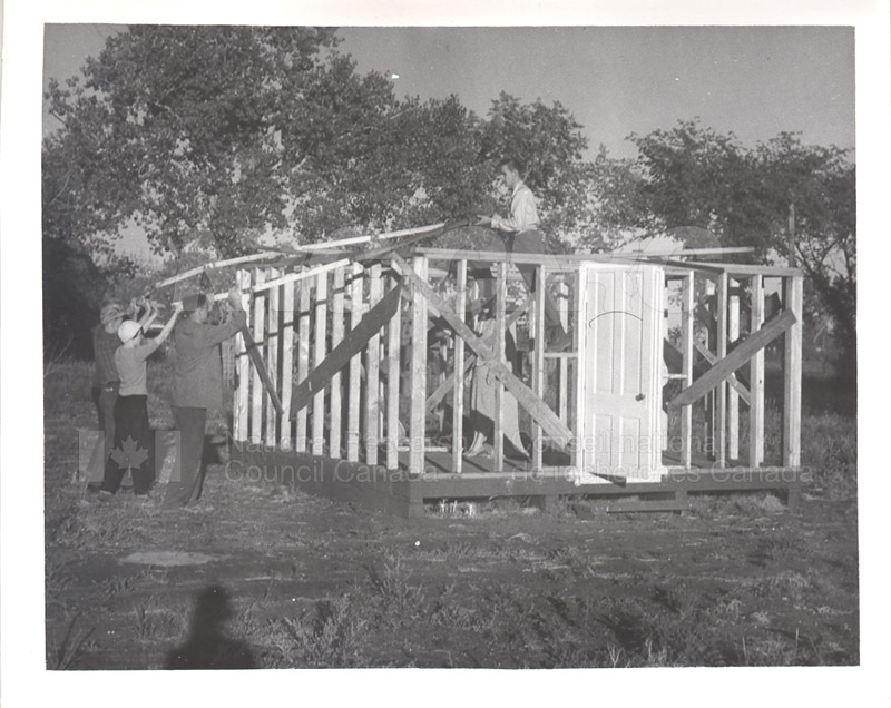 The Observatory Frame- the Dodecagon Being Put up on the Roof July 1952