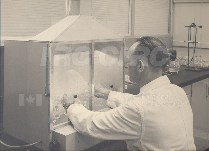 Don Hams Transferring Algal Cultures c.1950