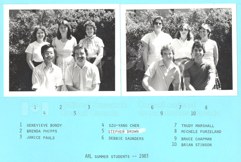 Summer Students 1983 001