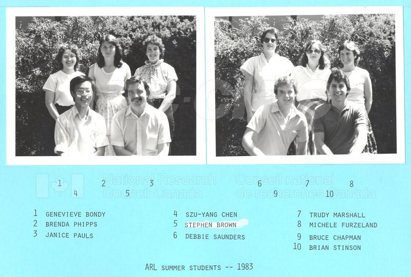 Summer Students 1983 001