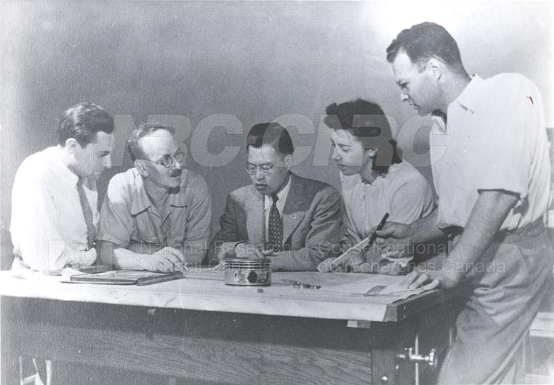 Mechanical Engineering- Engine Laboratory Staff c.1945-1948 (includes M. Kuhring)